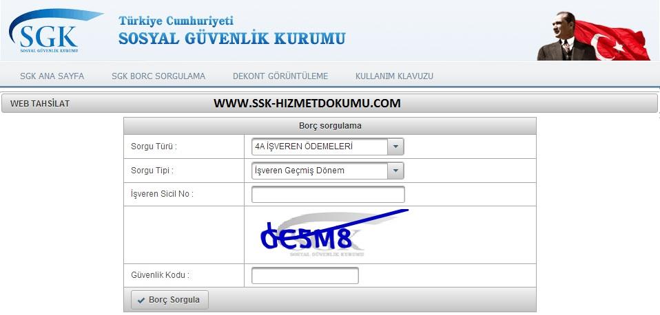 Kredi Kartıyla SGK SSK Prim Borcu Ödeme